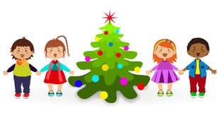 Abete del bambino di Natale Fotografia Stock