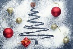 Abete di Natale Fotografie Stock Libere da Diritti