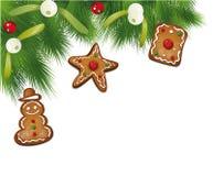 Abete di Natale, vischio Fotografia Stock Libera da Diritti