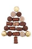 Abete fatto delle caramelle di cioccolato Immagini Stock Libere da Diritti