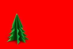 Abete verde degli origami Fotografia Stock Libera da Diritti