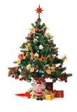 Abeto adornado de la Navidad Foto de archivo