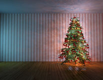 Abeto da árvore de Natal Fotos de Stock Royalty Free