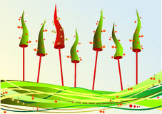 Abeto de la Navidad con las cerezas Imagen de archivo libre de regalías