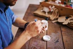 Abeto de madeira de pintura Imagem de Stock