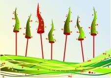 Abeto do Natal com cerejas ilustração royalty free