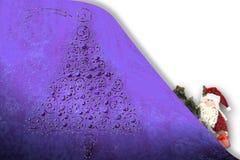 Abeto engraçado de Santa do cartão de Natal Imagens de Stock Royalty Free