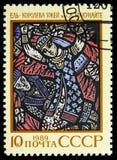 Abeto lituano del poema épico - reina de las serpientes de hierba, poemas épicos de naciones del serie de URSS, circa 1989 imagen de archivo