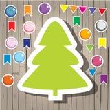 Abeto y decoración de la Navidad Fotos de archivo libres de regalías