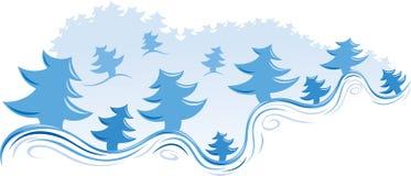 Abetos azules stock de ilustración