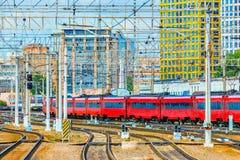 Abfahrt des Zugs Stockfoto