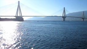 Abfahrt und Brücke 2 stock footage