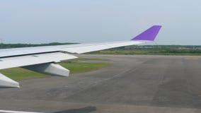 Abfahrt von Suvarnabhumi-Flughafen, Bangkok stock video
