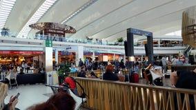 Abfahrtaufenthaltsraum in Budapest Ferenc Liszt International Airport stockfoto