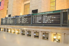 Abfahrtbretter an Grand Central -Station Stockbilder