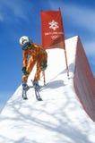 Abfahrtskilaufausstellung bei 2002 Winter Olympics, Salt Lake City, UT Lizenzfreie Stockbilder