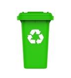 Abfall-Abfalleimer mit Recycling-Symbol Stockfotografie