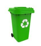 Abfall-Abfalleimer mit Recycling-Symbol Lizenzfreie Stockfotografie