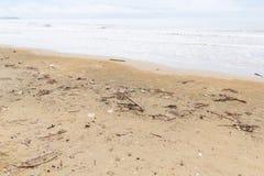 Abfall auf dem Strand Lizenzfreie Stockfotografie