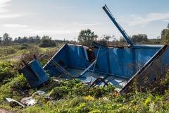 Abfall auf der Beschränkung ökologisches Krisenfoto Lizenzfreie Stockbilder