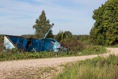 Abfall auf der Beschränkung ökologisches Krisenfoto Stockfoto