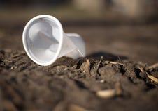 Abfall in der Natur Stockfotografie