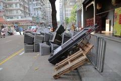 Abfall in der Straße von Hong Kong Stockbilder