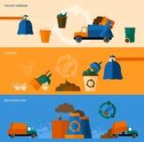 Abfall-Fahnen-Satz lizenzfreie abbildung