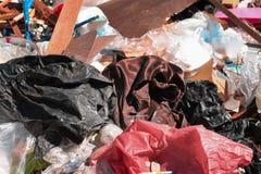 Abfall ist schwierig zu verdauen stockbild
