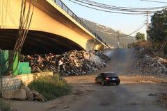 Abfall-Krise, der Libanon Stockbild