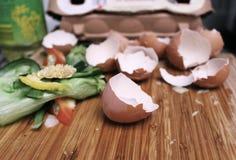 Abfall nachdem dem Kochen Stockfoto