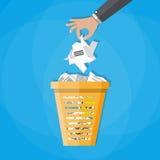 Abfall-Papierkorb-Abfall Stockbild