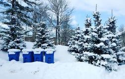 Abfall-Schnee Stockbild