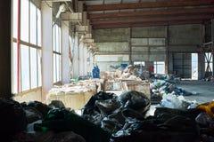 Abfall-Speicher auf Abfallverwertungsanlage Lizenzfreie Stockfotos