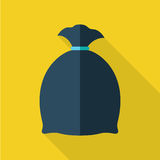 Abfall-Taschen-Vektor-Illustration im flachen Design vektor abbildung