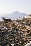 Abfall und Abfälle auf dem Strand Lizenzfreie Stockbilder