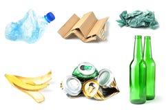 Abfall und Abfall getrennt Lizenzfreie Stockbilder