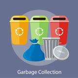 Abfall und Wiederverwertung der Dosen-Sammlung stock abbildung