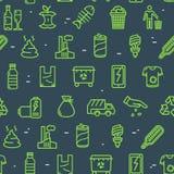 Abfall unterzeichnet nahtlosen Muster-Hintergrund Vektor lizenzfreie abbildung
