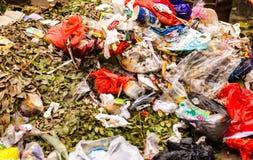 Abfall vom chinesischen Haus Stockbild