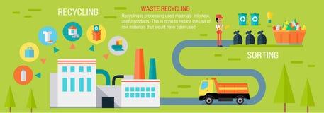 Abfallaufbereitung Infographic-Vektor-Konzept stock abbildung