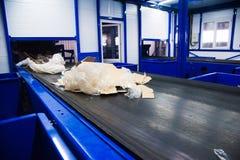 Abfallaufbereitungsfabrik stockfoto