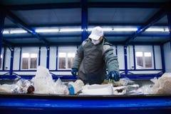 Abfallaufbereitungsfabrik stockfotos