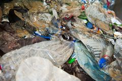 Abfallaufbereitungsfabrik lizenzfreies stockbild