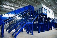 Abfallaufbereitungsfabrik stockfotografie