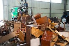 Abfallaufbereitungsfabrik stockbilder