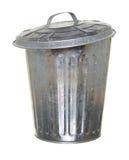 Abfalleimer, angelehntes Vorwärts der Kappe Stockfoto