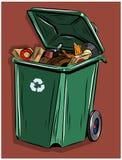 Abfalleimer bestimmt für Hausmüll Stockfotos