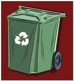 Abfalleimer bestimmt für Hausmüll Lizenzfreie Stockbilder