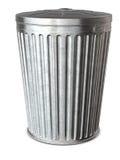 Abfalleimer u. Ausschnitts-Pfad Lizenzfreie Stockbilder